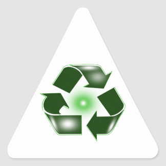 Green Recycle Logo Triangle Sticker