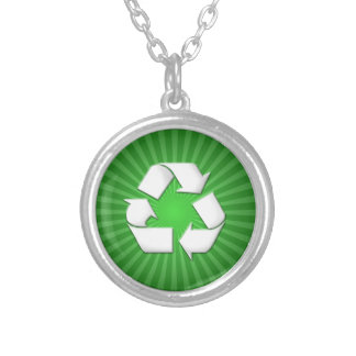 Green Recycle Necklace 0001