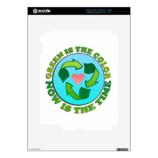 Green Recycle Planet Decals For iPad 2