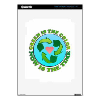 Green Recycle Planet iPad 3 Decal