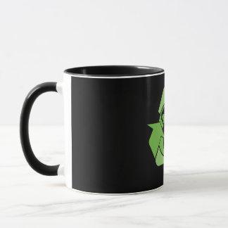 Green Recycle Recycling dark Mug