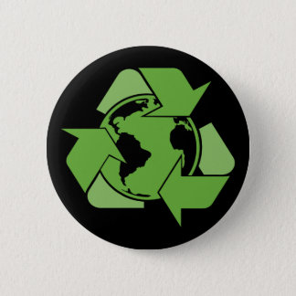 Green Recycle Recycling dark Pinback Button