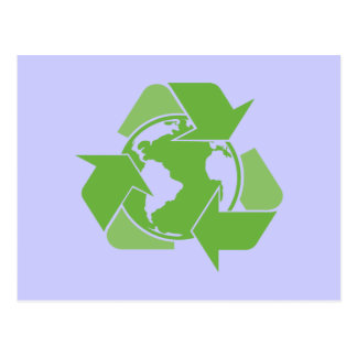 Green Recycle Recycling dark Postcard