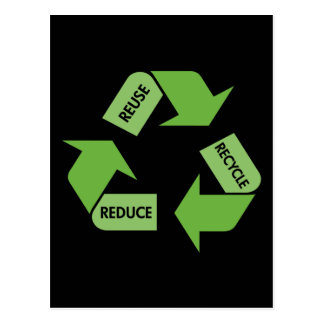 Green Recycle Reuse Reduce Postcard