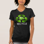 Green recycle shirt on dark