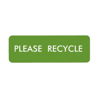Green Recycle  Simple Warning  Shipping Label