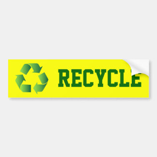 Green Recycle Symbol Bumper Sticker