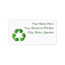 Green Recycle Symbol Label