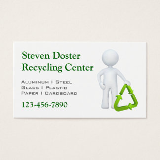 Green Recycle Symbol & Man Business Card