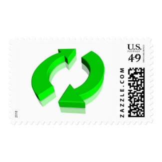 Green Recycle Symbol Stamp