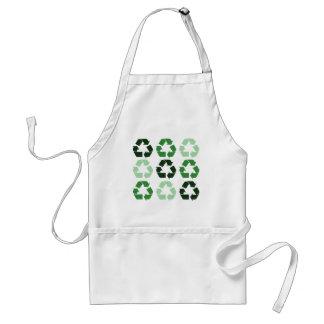 Green Recycle Symbols Adult Apron