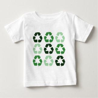 Green Recycle Symbols Baby T-Shirt