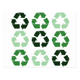 Green Recycle Symbols Postcard