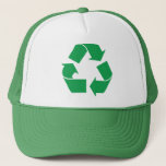 """Green Recycle Trucker Hat<br><div class=""""desc"""">Green recycle symbol.</div>"""