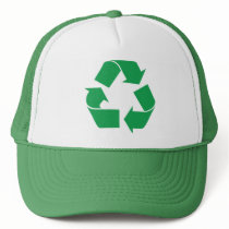 Green Recycle Trucker Hat