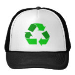 green recycle trucker hats
