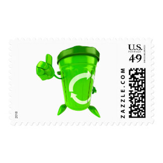 Green Recycling Bin Postage