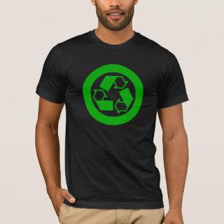green recycling logo t-shirt