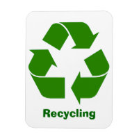 Green Recycling Sign Magnet