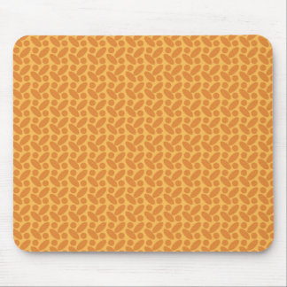 Green Red Abstract Bean Pattern Mouse Pad
