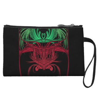 Green, Red and Black Abstract Wristlets