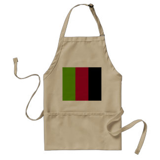 Green, Red and Black Stripes Adult Apron