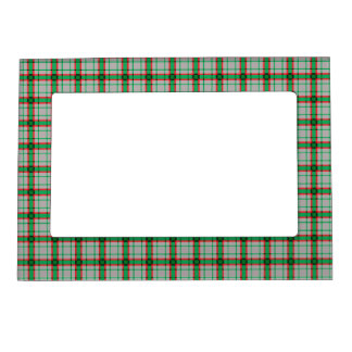 Green, Red, and Grey Plaid Magnetic Frame