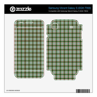 Green Red and Grey Plaid Samsung Vibrant Decal