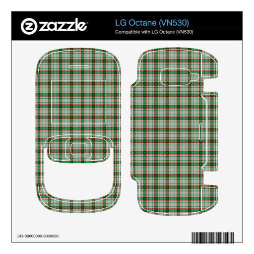 Green, Red, and Grey Plaid Skins For The LG Octane