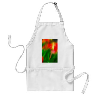 Green, Red and Yellow Tulip Glow Adult Apron