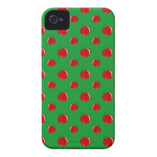 Green red apple pattern Case-Mate iPhone 4 case