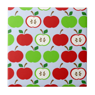 Green red apple pattern design tile