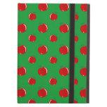 Green red apple pattern iPad folio case
