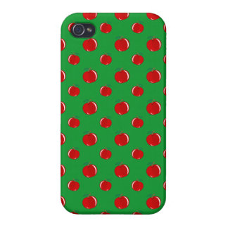 Green red apple pattern iPhone 4/4S case