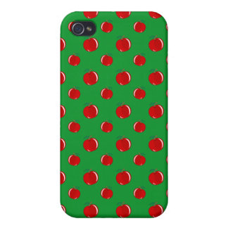 Green red apple pattern iPhone 4/4S cases