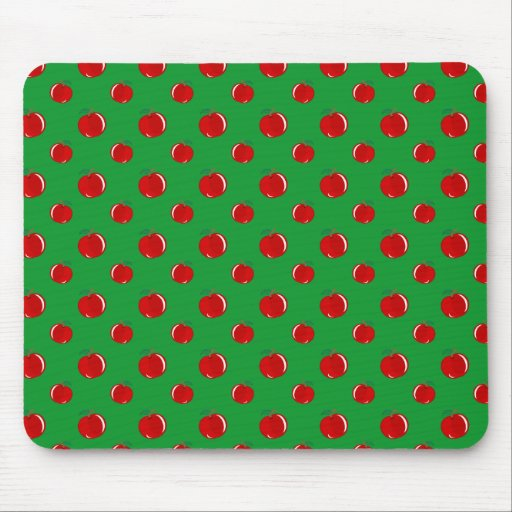 Green red apple pattern mousepads