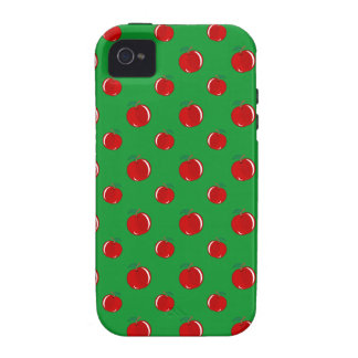 Green red apple pattern vibe iPhone 4 cases