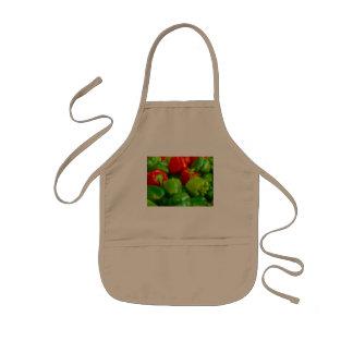 Green Red Bell Peppers City Farmer's Market KC Kids' Apron