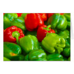 Green Red Bell Peppers City Farmer's Market KC Greeting Card