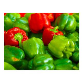 Green Red Bell Peppers City Farmer's Market KC Postcard