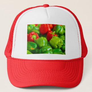 Green Red Bell Peppers City Farmer's Market KC Trucker Hat