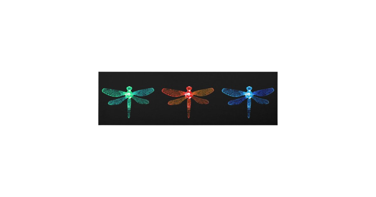 Green, Red, & Blue Dragonfly Wall Panel