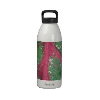 Green & Red Caladium Leaf Drinking Bottle