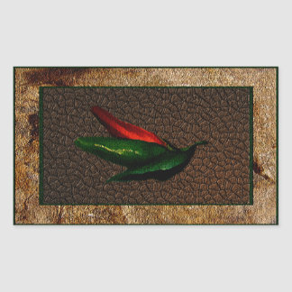 Green & Red Chili Peppers Sticker