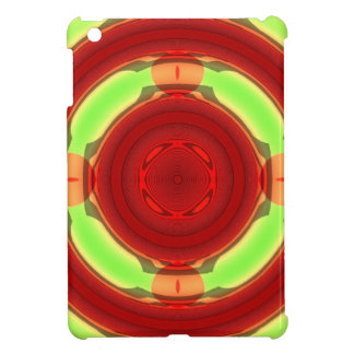 Green Red Circle Pattern Case For The iPad Mini