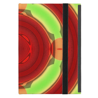Green Red Circle Pattern Covers For iPad Mini