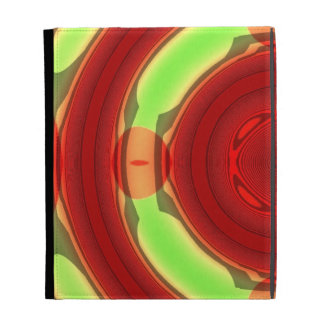Green Red Circle Pattern iPad Cases