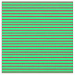 [ Thumbnail: Green & Red Colored Lines Fabric ]