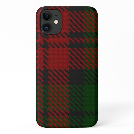 Green & Red Flannelly Twill Pattern iPhone 11 Case