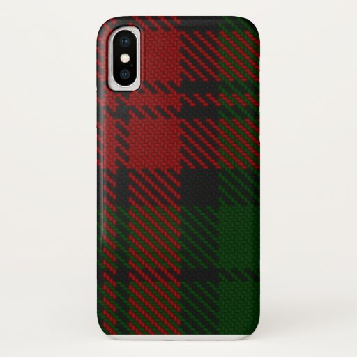 Green & Red Flannelly Twill Pattern iPhone X Case